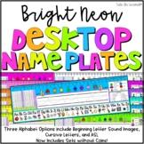 Desktop Helper Name Plate Editable NEON DECOR