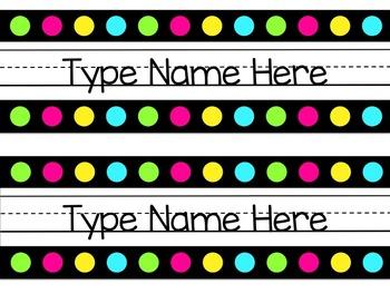 Neon Name Tags