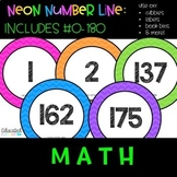 Neon Number Line #0-180