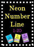 Neon Number Line 1-20 with ten frames
