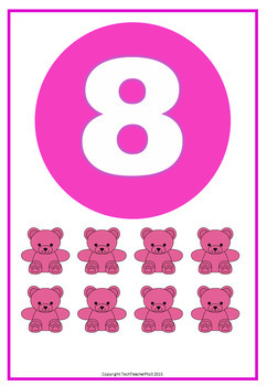 Number Poster Set  1 to 9