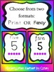 Neon Number Posters 1 - 20 Two formats with Ten Frames Pre-K Kindergarten