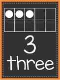 Neon Number Posters - Orange