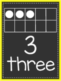 Neon Number Posters - Yellow