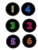 Neon Numbers 1-32
