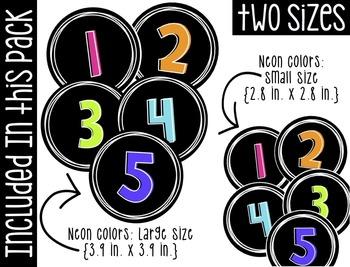 Neon Numbers Pack