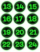 Neon Numbers in Lime Green