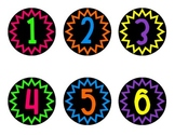 Neon Numbers on Black - Zig Zag