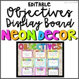 Neon Objectives Bulletin Board Kit
