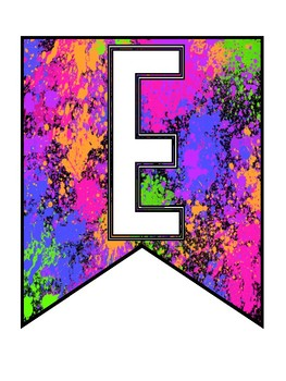 """Neon Paint Splatter """"WELCOME"""" Banner"""