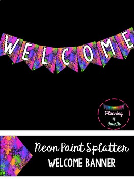 Neon WELCOME Banner