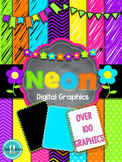 Neon ~ Papers, Banners, Frames, Borders, and Clipart