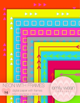 Neon Papers with Frames