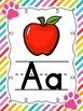 Neon Paw Print Alphabet
