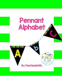 Neon Pennant Alphabet
