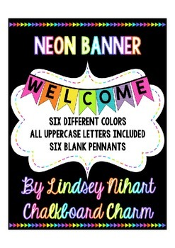 Neon Pennant Banner
