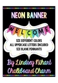 Neon Pennant Banner