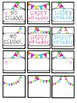 Neon Pennant Banner Calendar Numbers