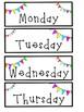 Neon Pennant Banner Calendar Set