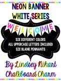 Neon Pennant Banner- White Series