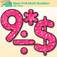 Neon Pink Math Numbers Clip Art {Great for Classroom Decor & Resources}