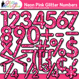 Neon Pink Math Numbers Clip Art {Great for Classroom Decor