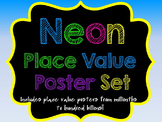 Neon Place Value Poster Set