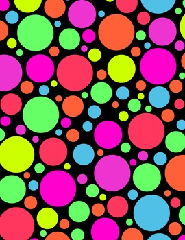 Neon Polka Dot Digital Papers & Matching Frames for Work Books, Covers, Sellers