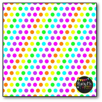 Neon Polka Dots Digital Papers {Commercial Use Digital Graphics}