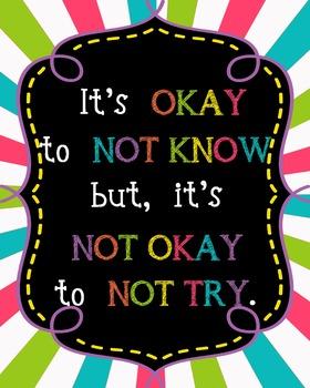 Neon Poster {It's OKAY}