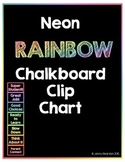 Neon RAINBOW Chalkboard Clip Chart! - Now Editable!