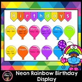 Neon Rainbow Birthday Display