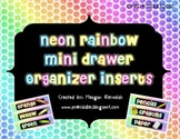 Neon Rainbow Mini Drawer Organizer Inserts