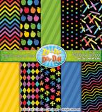 Neon Rainbow School Digital Scrapbook Pack {Zip-A-Dee-Doo-Dah Designs}