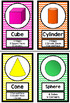 Neon Rainbow Shapes Posters