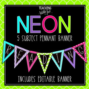 Colorful 5-Subject Banners