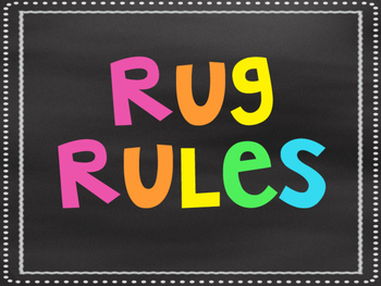 Neon Rug Rules