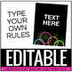 Neon Bright Rule Posters