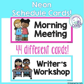 Neon Schedule Cards!