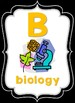Neon Scientific Alphabet Posters