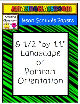 Neon Scribble Papers with and without Frames