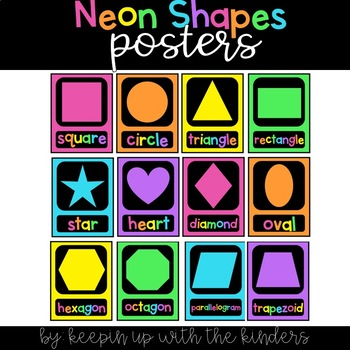 Neon Shapes Posters