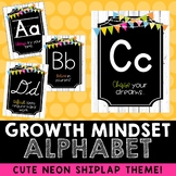 Growth Mindset ABC Posters (Neon Shiplap)