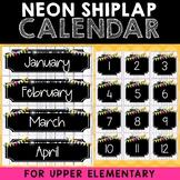 Class Calendar Setup (Neon Shiplap)