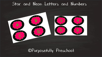 Neon Star letters and numbers