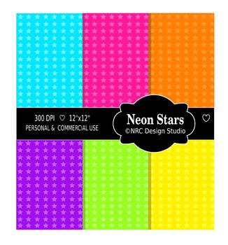 Neon Stars Paper Pack