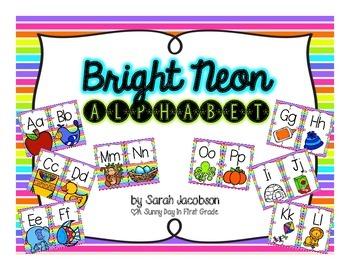 Neon Stripe Alphabet!