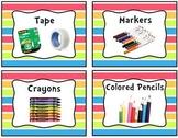 Neon Stripe Classroom Labels Bundle Pack