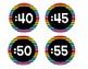 Neon Stripe Clock Labels