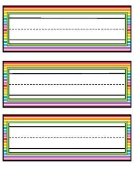 Neon Stripe Name Tags